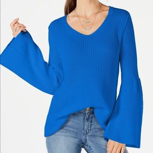 Style&Co Cotton Bell-Sleeve Sweater
